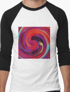 Modern Swirl Abstract Art #2 Men's Baseball ¾ T-Shirt