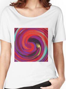 Modern Swirl Abstract Art #2 Women's Relaxed Fit T-Shirt
