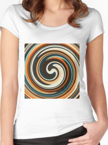 Modern Swirl Abstract Art #3 Women's Fitted Scoop T-Shirt
