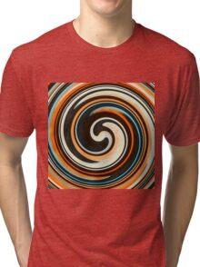 Modern Swirl Abstract Art #3 Tri-blend T-Shirt