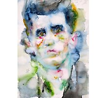 LUDWIG WITTGENSTEIN - watercolor portrait Photographic Print