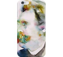 FRIEDRICH NIETZSCHE watercolor portrait.8 iPhone Case/Skin
