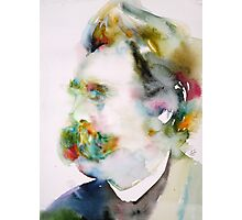 FRIEDRICH NIETZSCHE watercolor portrait.8 Photographic Print