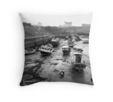 Seaton Sluice Harbour Throw Pillow