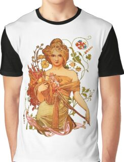 Mucha Floral Graphic T-Shirt