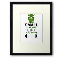 Yoda Lifting Inspiration  Framed Print