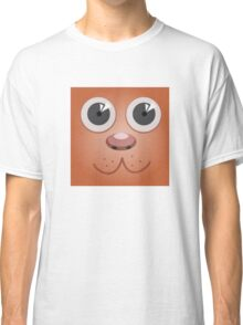 cute dog - cartoon face Classic T-Shirt