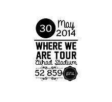 30th may - Eithad Stadium WWAT Photographic Print