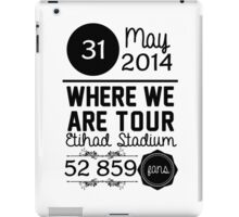 31th may - Eithad Stadium WWAT iPad Case/Skin