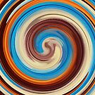 Modern Swirl Abstract Art #4 by Nhan Ngo