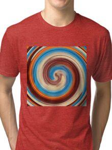 Modern Swirl Abstract Art #4 Tri-blend T-Shirt