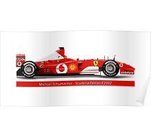 Michael Schumacher  - Ferrari F2002 - No Tobacco Poster