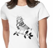 Winter Birdie Womens Fitted T-Shirt