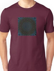 Teal and Brown Feather Abstract Unisex T-Shirt