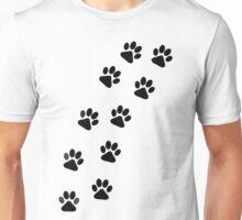 Dog Paw Track Unisex T-Shirt