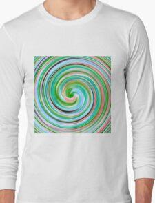 Modern Swirl Abstract Art #5 Long Sleeve T-Shirt