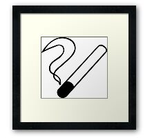 Smoking Symbol Framed Print