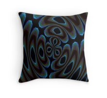 Blue and Brown Contemporary Abstract Throw Pillow