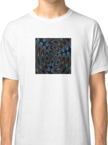 Blue and Brown Contemporary Abstract Classic T-Shirt