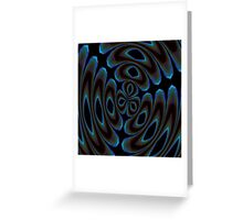 Blue and Brown Contemporary Abstract Greeting Card
