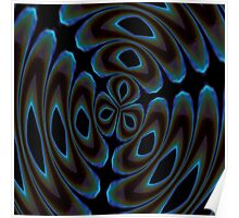 Blue and Brown Contemporary Abstract Poster