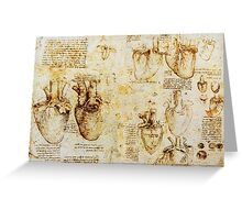 Heart And Its Blood Vessels Greeting Card