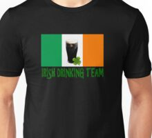 Irish drinking team with flag Unisex T-Shirt