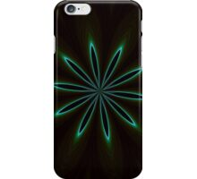 Contemporary Teal Floral on Black iPhone Case/Skin