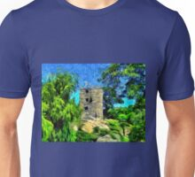 A virtual van Gogh digital painting of a Medieval Citadel in Romania Unisex T-Shirt