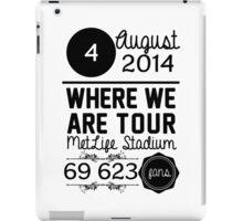 4th august - MetLife Stadium WWAT iPad Case/Skin