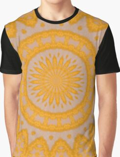 Orange Hearts And Flower Petals Graphic T-Shirt