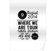 9th august - Gillette Stadium WWAT Poster
