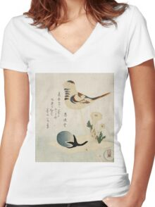 Candy Bubble - Shunman Kubo - c1815 - poster Women's Fitted V-Neck T-Shirt