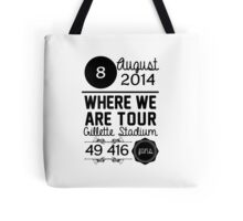 8th august - Gillette Stadium WWAT Tote Bag