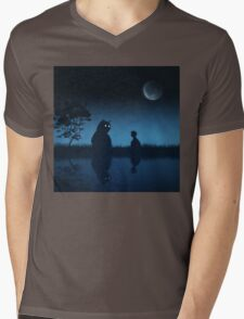 The Friend of the Night Mens V-Neck T-Shirt