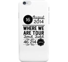 16th august - Ford Field WWAT iPhone Case/Skin