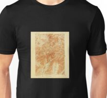 Vintage Topographical Mount Marcy New York Map Unisex T-Shirt