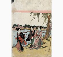 Cherry Blossoms At Mimuguri - Eisen Ikeda - c1820 - woodcut Unisex T-Shirt