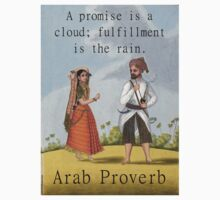 A Promise Is A Cloud - Arab Proverb One Piece - Short Sleeve