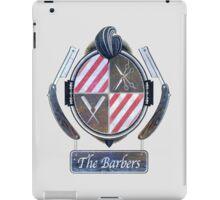 the barbers vintage iPad Case/Skin