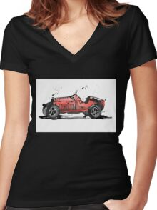 Racing Alfa Romeo Women's Fitted V-Neck T-Shirt