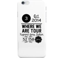3rd october - Raymond James Stadium WWAT iPhone Case/Skin