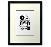 3rd october - Raymond James Stadium WWAT Framed Print
