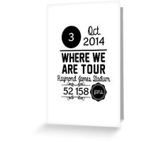 3rd october - Raymond James Stadium WWAT Greeting Card