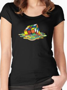 Melting Rubix Women's Fitted Scoop T-Shirt