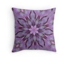 Floral Abstract Of Pink Hydrangea Flowers Throw Pillow