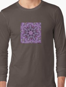 Floral Abstract Of Pink Hydrangea Flowers Long Sleeve T-Shirt
