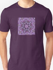 Floral Abstract Of Pink Hydrangea Flowers Unisex T-Shirt