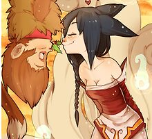 Wukong and Ahri Love by Ewelsart
