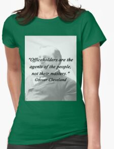 Officeholders - Grover Cleveland Womens Fitted T-Shirt